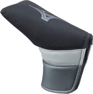 Mizuno Tour Putter Headcover (Black/Grey, Blade) Golf Club Cover NEW