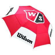 "Wilson Staff Tour Umbrella 2020 (Red/White/Black, 62"" Coverage) Golf NEW"