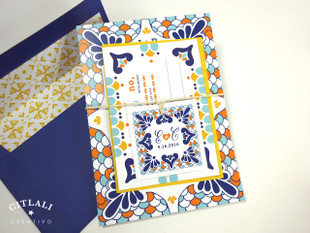 Talavera Spanish Tile Wedding Invitations