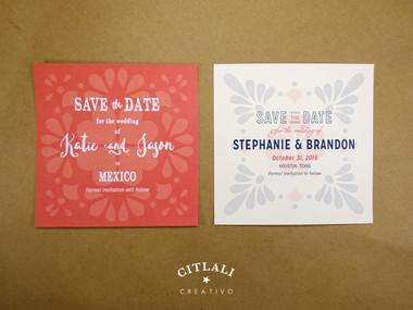 Talavera Spanish Tile Wedding Save the Date Announcement