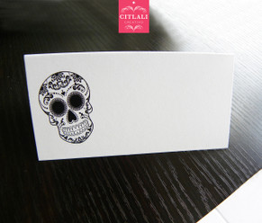Sugar Skull Tent Style Place cards
