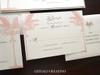Blush & Sand Palm Tree Beach Wedding Invitations Glitter & Ribbon Closure