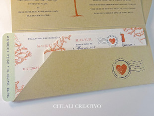 Boarding Pass Ticket Folder Wedding Invitations
