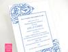 Blue Floral Rehearsal Dinner Wedding Invitations