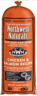 Northwest Naturals Frozen Raw Dog Food Chicken & Salmon Recipe Chub 2 lbs.