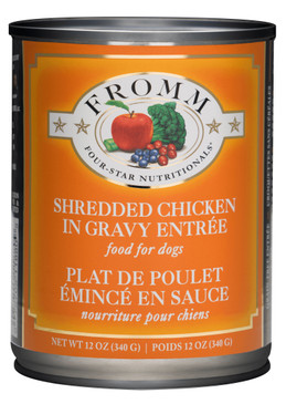 Fromm Four-Star Shredded Chicken in Gravy Entree