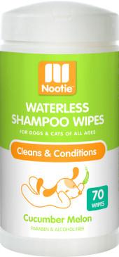 Nootie Waterless Shampoo Wipes Cucumber Melon