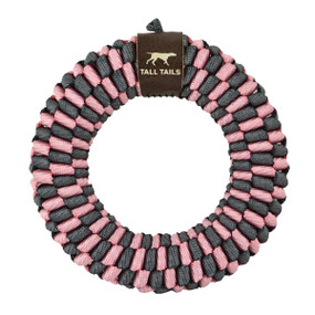 """Tall Tails Braided Ring 6""""  Toy Pink"""