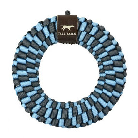 """Tall Tails Braided Ring 6""""  Toy Blue"""