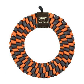 """Tall Tails Braided Ring 6""""  Toy Orange"""