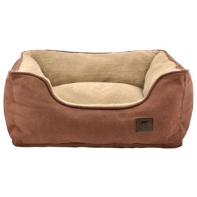 """Tall Tails Dream Chaser Brown Bolster Bed Small 17""""x15"""""""