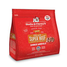 Stella & Chewy's Super Beef Canine Frozen Dinner Morsels 4#