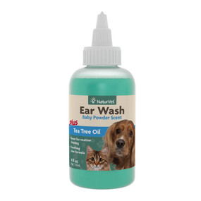 NaturVet Ear Wash with Tea Tree Oil