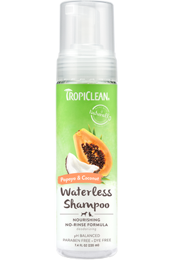 Tropiclean Papaya & Coconut Waterless Shampoo 7.4 oz