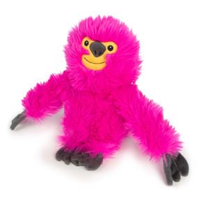 Quaker Pet goDog Fuzzy Sloth Pink Lrg