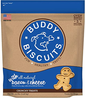 Buddy Biscuits Crunchy Bacon & Cheese Flavor 3lb