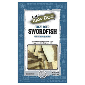 OC Raw Freeze Dried Swordfish Treat 3oz