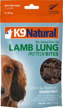 K9 Natural Lamb Lung Protein Bites 2oz