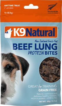 K9 Natural Beef Lung Protein Bites 2oz