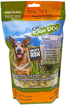 OC Raw Freeze Dried Chicken, Fish & Produce