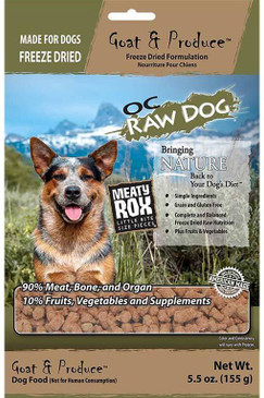 OC Raw Freeze Dried Goat & Produce