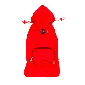 Fab Dog Packaway Raincoat Red