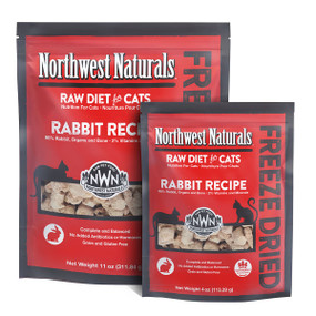 Northwest Naturals Rabbit Recipe Freeze Dried Cat Food
