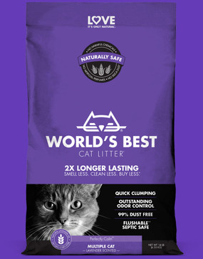 World's Best Multiple Cat Clumping Lavender Scent