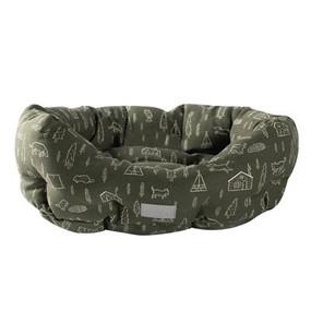 Fringe Studio Pet Shop Camping Olive Round Bed