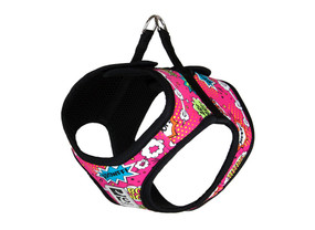 RCpets Step In Cirque Harness Pink Comic Sounds