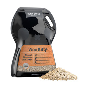Rufus & Coco Wee Kitty Clumping Corn Litter 20#