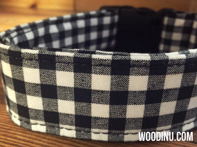 Black & White Plaid Collar
