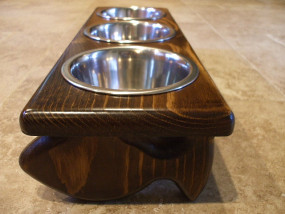 "Raised Pet Feeder 1 Pt 4"" Rec/Fish Design"