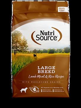 NutriSource Large Breed Adult Lamb Meal & Rice Formula