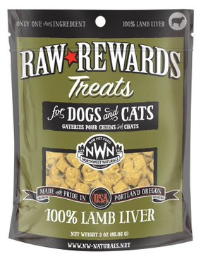 Northwest Naturals Raw Rewards Freeze-Dried Lamb Liver Treats
