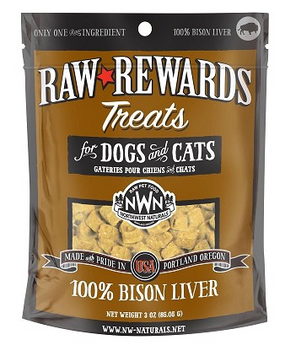 Northwest Naturals Raw Rewards Freeze-Dried Bison Liver Treats