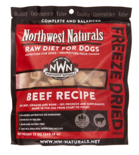 Northwest Naturals Freeze Dried Dog Food Beef Recipe 12 oz