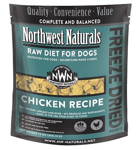 Northwest Naturals Freeze Dried Dog Food Chicken Recipe 12 oz