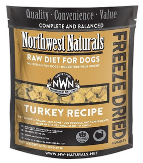Northwest Naturals Freeze Dried Dog Food Turkey Recipe 12 oz