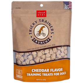Cloud Star Crunchy Tricky Trainers Treat Cheddar Flavor 8 oz