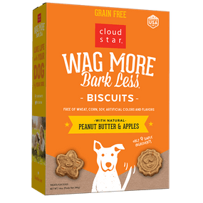 Cloud Star Wag More Bark Less PB & Apples Biscuits 14oz