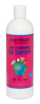 Earthbath 2-in-1 Conditioning Cat Shampoo Light Wild Cherry 16 oz.