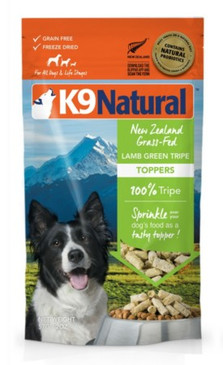 K9 Natural Lamb Green Tripe Topper 5 oz.