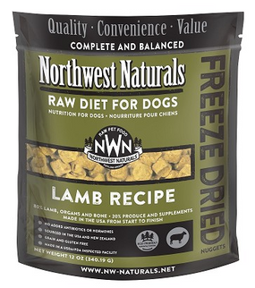 Northwest Naturals Freeze Dried Dog Food Lamb Recipe 12 oz