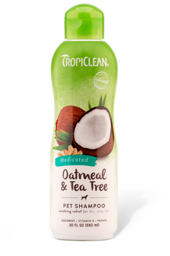 Tropiclean Oatmeal & Tea Tree Shampoo 20 oz