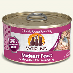 Weruva Mideast Feast – With Grilled Tilapia in Gravy