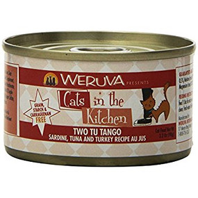 Weruva Cats in the Kitchen Two Tu Tango - Sardine, Tuna & Turkey in Au Jus