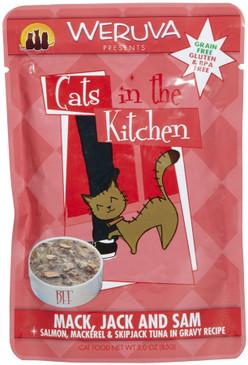 Weruva Cats in the Kitchen Mack, Jack & Sam Pouch
