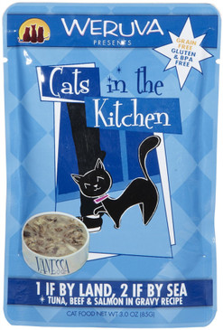 Weruva Cats in the Kitchen 1 If By Land, 2 If By Sea Pouch