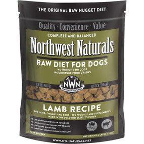 Northwest Naturals Frozen Raw Dog Food Lamb Recipe Nuggets 6 lbs.